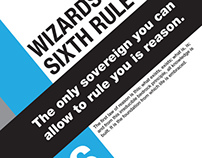 Typography Poster: Wizards Sixth Rule