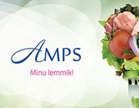 Logo for Amps Restaurant Chain