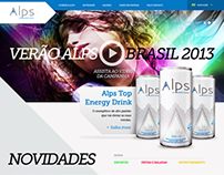 Alps Energy Drink Website Design