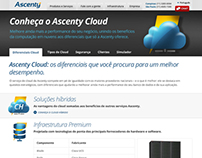 Ascenty Cloud Website Design