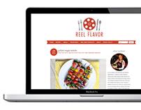 Reel Flavor Cooking Blog Design