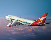 Qantas 747 Livery