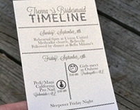 Wedding Time Line Itinerary
