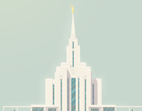 Oquirrh Mountain LDS Temple Illustration