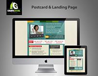 postcard & landing page
