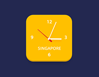 Flat Clock icon Design