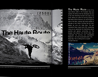 Haute Route article concept for Pop magazine Melbourne