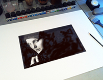 WORK COMPLETED (Portrait of Natalie Portman)