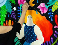 Mural at Lente&Cafe, Bucharest