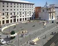 San Silvestro Square in Rome - Italy