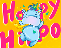 Happy Hippo! Sticker pack