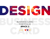 Business card portfolio #Pack 2