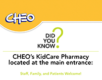 Bilingual CHEO Pharmacy Posters