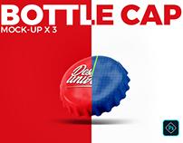 Metal bottle cap Mock-ups x 3