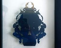 Rorschach Beetle Paper Cutout