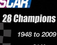 NASCAR 28 Champions Poster