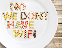 No we don't have wifi / enjoy your meal