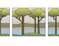 Stained Glass Template: Trees