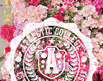 floral college graphic design vector art