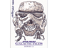 Star Wars Galactic Files 2 sketch cards
