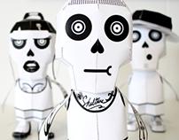 Skulture Posse 3D paper toys