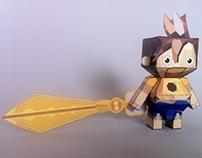 puppetter picarina & kutaro paper-craft templates