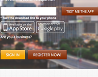 Text Me App Landing Page