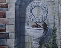 Summer 2013 Scenic Painting - Trompe l' oeil Fountain