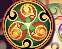 Celtic theme. Vector for jewelry