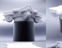 White House column pillar for 3d print