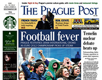 The Prague Post, newsprint front pages