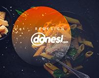 Mobile application design Donesi.com
