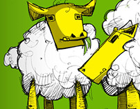 The musician and the sheep