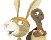 Le lièvre et la tortue, (éditions Lito)