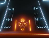 Tron Inspired Data Center Multiplayer Level