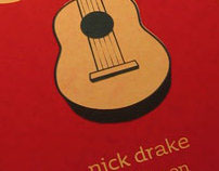 Nick Drake Silkscreened Poster