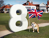 British Open Golf - 8 Places Campaign