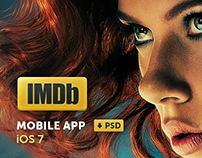 IMDb - iOS 7 Application concept + ui psd pack