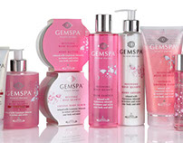 GemSpa beauty product branding & packaging