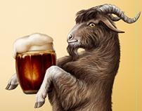 Kozel Beer Goat