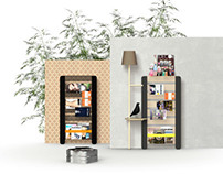 ISSUE / Magazine-and-book Rack