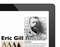Eric Gill iPad Article