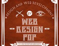 web design POP signage