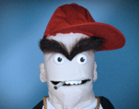 On-Stage Animation: Bazh (rapper) Puppet Character