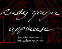 Lady Gaga´s Applause Illustrated Lyric Video br Mr.GM