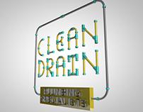 Clean Drain 3D Concept logo
