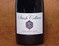 Stash Cellars Wine Label and Crest
