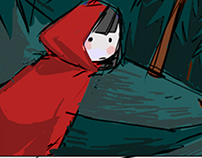 Caperucita Roja (storyboard e ilustración)