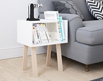 UNO bedside table by FIELD & RAGE
