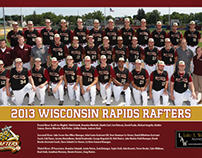 Wisconsin Rapids Rafters Team Poster